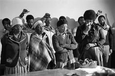 Gille de Vlieg Pauline Moloise (mother of Ben), two women & Winnie Madikizela Mandela mourn at the Memorial Service for Benjamin Moloise, who was hanged earlier that morning. Winnie Mandela, David Goldblatt, Dr Marcus, Apartheid, Black History Facts, African Countries, Nelson Mandela, Photo Essay, African History