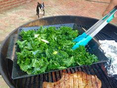 grilled kale