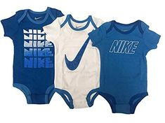 Nike Two Piece Infant Booties /& Beanie Set Royal Blue White 0-6 Months Baby b...