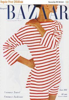 Estate Sale Vintage Harper's Bazaar Cover Poster Print, Magazine cover, Fashion…
