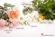 Pink Peach Centerpiece - Ingredients