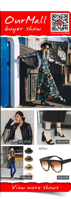 This is Natalia Homolova's buyer show in OurMall;  1.The Fringe PU Leather Jacket 2.Shoes Woman 2017 Zapatos Mujer Ankle Strap Women Sandals Open Toe Heels Ladies Sandals 3.Fedora Wide Brim Black ribbon patchwork Straw hat Trilby Cap Panama Unisex Summer Beach Sun 4.BOUTIQUE Woma... please click the picture for detail. http://ourmall.com/?AnUvQb  #dress #dressbridesmaid #dresswedding #mididress #dresscute #floraldress #sundress #stripedress #sexydress #elegantdress