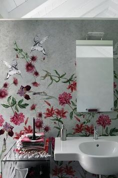 Contemporary wallpaper / nature pattern / floral COLIBREEZE by Christian Benini Wall&Deco