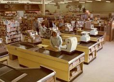 Grocery stores in the 70's  - no security cages around cigarettes