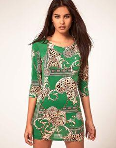 John Zack Animal Chain Print Dress  $54.54