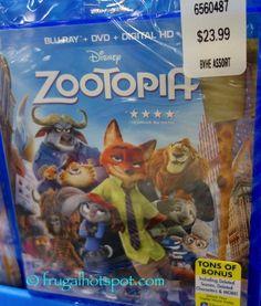 Disney Zootopia Blu Ray DVD Digital HD Costco FrugalHotspot