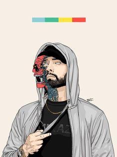 I fucking love Eminem. Dope Cartoons, Dope Cartoon Art, Eminem Drawing, Eminem Tattoo, Eminem Wallpapers, Eminem Poster, Tupac Art, Hip Hop Quotes, Rap Quotes