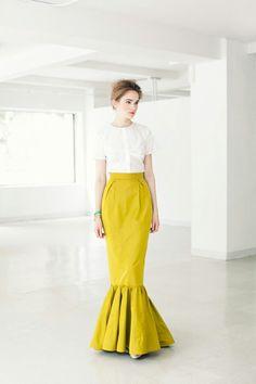Trumpet skirt - I LOVE this. So cute.
