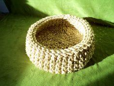sisal rope cat basket crochet