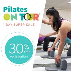 January 14th Only: Get 30% off 2020 registration with our Pilates on Tour Super Sale!  This incredible deal ends at 11:59pm on January 14 , so START YOUR PLANNING NOW -- visit the Pilates on Tour site to see our fabulous locations*, dive into curriculum, and get ready to save $$$!  *Discount not available for Pilates on Tour Istanbul, Shanghai, Sydney and Venice events. More information on these events coming soon!  Valid 12:01am through 11:59pm PST on January 14, 2020.