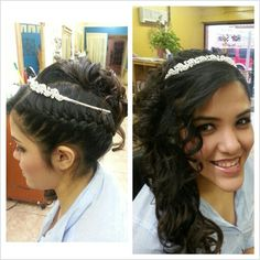 Hairstyle Sweet 15 hair style with soft make-up