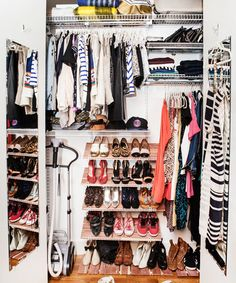 Need More Ideas to Help ORGANIZE Your Closet? This editor from Refinery29 had HER closet organized by an interior designer. See what was done  get some GREAT ideas! #closet #organize #declutter #refinery29 @Refinery29