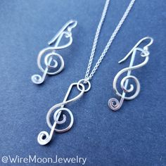Handmade Wire, Handmade Sterling Silver, Sterling Silver Chains, Music Teacher Gifts, Music Gifts, Moon Jewelry, Copper Jewelry, Jewelry Gifts, Jewelry Box