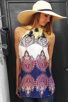 Ethnic Round Neck Sleeveless Printed Dress For Women Use Code  RGBF1 Get  25% OFF 5f8ae3c09