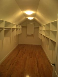 sloped celing walk in closet | Master with sloped ceiling