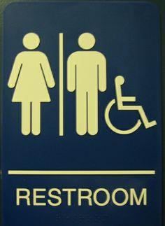 Yellow Bathroom Signs gender neutral bathroom sign | educational | pinterest | gender