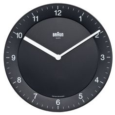 Braun: Braun Wall Clock - Black (BNC006BK)