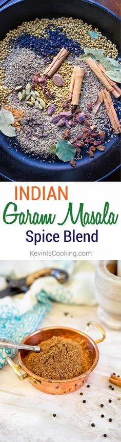 Indian Garam Masalais an exotic blend of warm spices. I show you how it can be made with most pantry items or purchased from bin markets and spice shops. via @keviniscooking