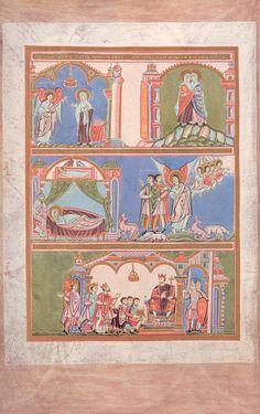 Codex Aureus Epternacensis (Goldenes Evangeliar), Prunkhandschrift Date circa Medieval Art, Renaissance Art, Medieval Dress, Illuminated Letters, Illuminated Manuscript, Book In Latin, Book Of Kells, Triple Goddess, Book Of Hours