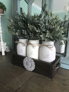 A personal favorite from my Etsy shop https://www.etsy.com/listing/519216948/mason-jar-centerpiece-mason-jar-table