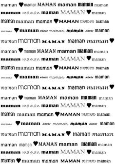 Maman Mother Day Gifts, Fathers Day, Cadeau Parents, Mamas And Papas, Mom And Dad, Lettering, Education, Words, School
