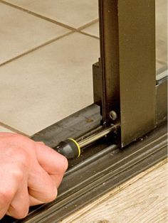 Fixing A Sliding Pation Door Turn Adjusting Screw
