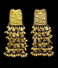 Gold Scythian bed hangings, 4th C BC. They could be earrings!!