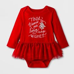 d28d181fe84 Baby Girls  Long Sleeve Kisses and Wishes Tutu Romper - Cat   Jack™ Red
