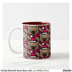 Totally Adorable Santa Bear with Red Scarf Two-Tone Coffee Mug #Onmeprints #Zazzle #Zazzlemade #Zazzlestore #Zazzleshop #Zazzlestyle #Totally #Adorable #Santa #Bear #Red #Scarf #Two #Tone #Coffee #Mug Christmas Time, Christmas Cards, Merry Christmas, Tea Mugs, Coffee Mugs, Red Scarves, Christmas Card Holders, Special Gifts, Keep It Cleaner