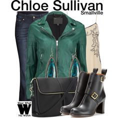Inspired by Allison Mack as Chloe Sullivan on Smallville.love the outfit but with different shoes Fashion Idol, Fashion Line, Fashion 101, Geek Fashion, Chic Outfits, Fashion Outfits, Inspired Outfits, Rocker Chic Outfit, Chloe Sullivan