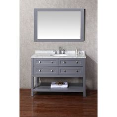 allen + roth Roveland Gray Undermount Single Sink Birch Bathroom ...