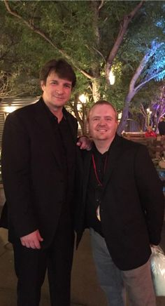 Nathan Fillion and I (Brian Wilson) worked together on a few shows some years back. It was nice catching up! At Cars 3 Event