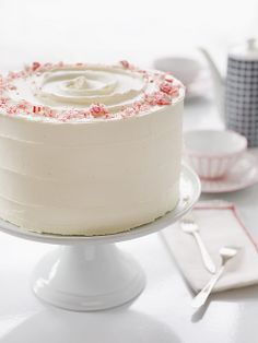 baked wintermint cake - with peppermint buttercream frosting