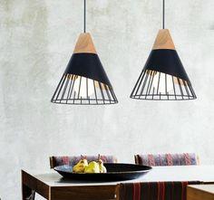Pendant Lamp, Pendant Lighting, Lights Please, White Lamp Shade, Restaurant Kitchen, Modern Pendant Light, Living Room Lighting, Vintage Lamps, Room Lights