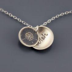 Dandelion Wish Necklace by Lisa Hopkins Design