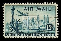 NYC Skyline Stamp, 1 of the of wallpaper wall murals at Magic Murals. Another great wall mural made with care from the professionals at Magic Murals. Old Stamps, Rare Stamps, Vintage Stamps, Postage Stamp Collection, Stamp Collection Value, Stamp Values, Airplane Art, Nyc Skyline, Mail Art