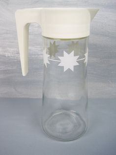 Vintage Anchor Hocking Glass Juice Pitcher by fromThePeddlersCart