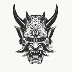 Art - stile tatuaggio - Arte Informations About Art – tattoo style Pin You can easily use my pro - Mascara Samurai Tattoo, Tattoo Mascara, Mascara Oni, Samurai Maske Tattoo, Hannya Samurai, Hannya Maske Tattoo, Samurai Helmet, Oni Tattoo, Hanya Tattoo
