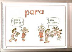 """Ficha para aprender el uso de la preposición """"para""""."""