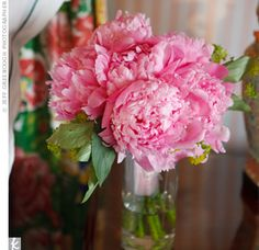 simple peony bouquets for bridesmaids