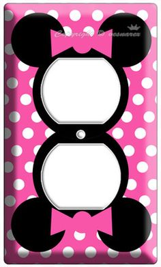 Minnie Mouse Pink Polka Dots Power Outlet Wall Plate Cover Girls Room Art  Decor | EBay