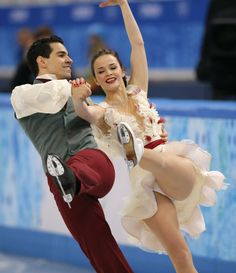 DAY 11:  Anna Cappellini and Luca Lanotte of Italy compete during Figure Skating Ice Dance Free http://sports.yahoo.com/olympics