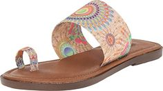 Sbicca Womens Sunnyvale Toe Ring Sandal NaturalMulti 9 B US -- Find out more about the great product at the image link.