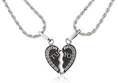 Real 925 Sterling Silver Breakable 'Tu Y Yo' Heart Pendant Necklaces