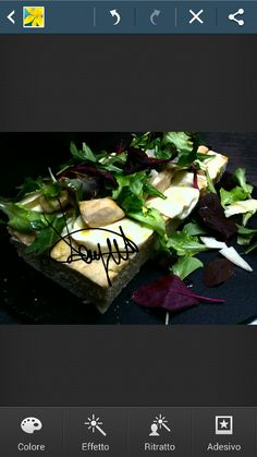 Chicken focaccia with provola cheese, mix salad, mushrooms and parmesan flakes. ..