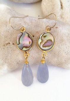 Resort Jewelry Beach Jewelry Abalone Earrings