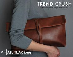 Trend Crush: Oversized envelope clutches! Perfect staple for your wardrobe all year round!