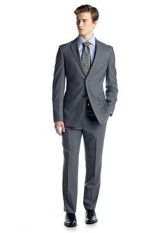 Tommy Hilfiger  Classic Fit Grey Solid Suit