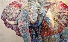 Textile embroidery art. Sophie Standing