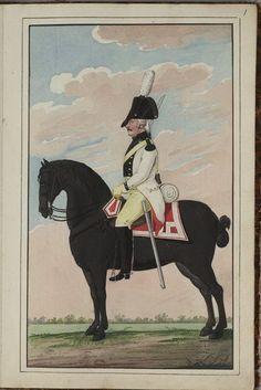 Batavia(Dutch); 1st Cavalry Regient, 1802 Army Uniform, Napoleonic Wars, Warriors, Netherlands, Dutch, Badge, Spain, Pictures, Painting